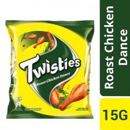 Twisties Flavoured Corn Snacks Herb Roasted Chicken Dance Flavour 15G
