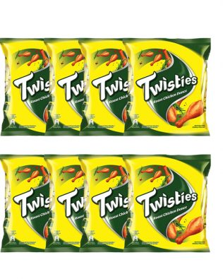 Twisties Flavoured Corn Snacks Herb Roasted Chicken Dance Flavour 15G Multipack (8 Packs)