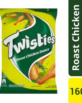 Twisties Flavoured Corn Snacks Herb Roasted Chicken Dance Flavour 160g