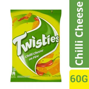 Twisties Flavoured Corn Snacks Fiery Chilli Cheese Flavour 60g