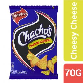 Twisties Chacho's Cheesy Cheese Tortilla Corn Chips 70g – 4258782