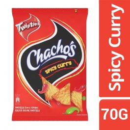 Twisties Chacho's Spicy Curry Tortilla Corn Chips 70g – 4258784
