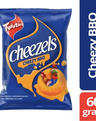 Twisties Cheezels Cheezy BBQ Cheese Flavoured Snacks 60g – 4049283