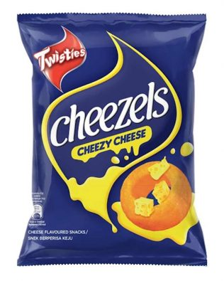 Twisties Cheezels Cheezy Cheese Flavoured Snacks 60g – 4049280