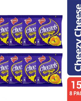 Twisties Cheezels Cheezy Cheese Flavoured Snacks Multi Pack 8 Packs x 15g (120g)
