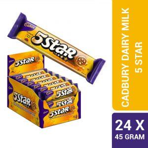 Cadbury Dairy Milk Chocolate 5 Star Biscuits 24 Packs X 45G-4025363