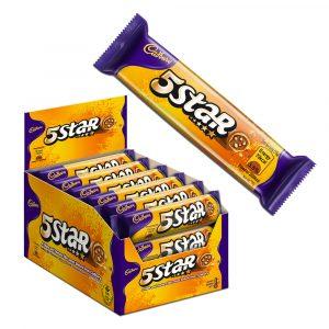 Cadbury Dairy Milk Chocolate 5 Star Biscuits 24 Packs X 15G-4025362