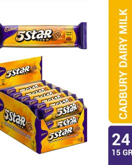 Cadbury Dairy Milk Chocolate 5 Star Biscuits 24 Packs X 15G-4025362