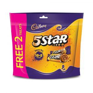 Cadbury Dairy Milk Chocolate 5 Star Biscuits Doybag 10 Treats X 15G (180G) +Free 2 Treats-4067321