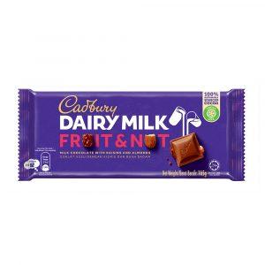 Cadbury Dairy Milk Fruit & Nut Wholenuts 165g – 4055279