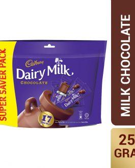 Cadbury Dairy Milk Milk Chocolate Doybag 17 Mini Bars 225g – 4058161