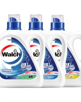 Walch 3 Liter OXI Clean Anti-bacterial Concentrated Detergent – Fresh Lemon/ Pine/ Original