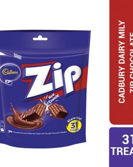 Cadbury Zip Chocolate Flavoured Wafer Bar Coated With Chocolate Flavoured Confection 31 Treats Sharebag (201.5G) – 4064070