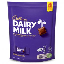 Cadbury Dairy Milk Chocolate Flavoured Neaps Doybag (Sharebag) 18 Mini Bites 100G – 4058124