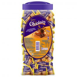 Cadbury Choclairs Caramel With Chocolate Flavours Confection Centre Original Flavour Jar 145 Pieces – 4060083