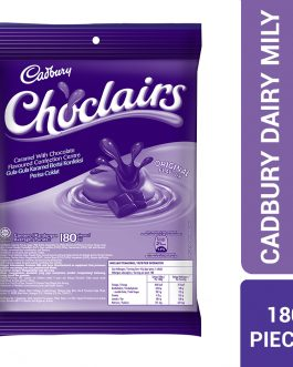 Cadbury Choclairs Caramel With Chocolate Flavours Confection Centre Original Flavour Refill Pack 180 Pieces – 4056027