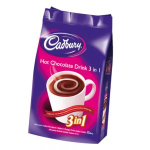 Cadbury 3 In 1 Hot Chocolate Compound Drink With Real Cadbury Chocolate Taste (18 Pack x 30G) – 4060515