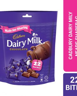 Cadbury Dairy Milk Chocolate Flavoured Neaps Doybag (Sharebag) 22 Mini Bites 100G – 4058124