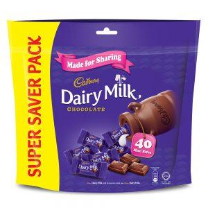 Cadbury Dairy Milk Chocolate Flavoured Neaps Doybag (Sharebag) 40 Mini Bites 180G – 4058127