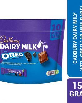 Cadbury Dairy With Oreo Milk Chocolate With Smooth Vanilla 150G Doybag 10 Mini Bars -4263340