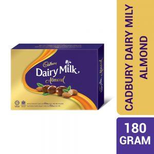 Cadbury Dairy Milk Chocolate Roasted Almonds Coated Panned 180G – 4053879