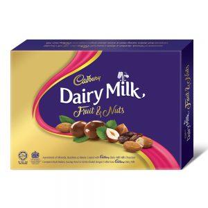Cadbury Dairy Milk Chocolate Fruit & Nuts Assortment Of Almonds Hazelnuts & Raisins Coated Panned 180G – 4053884