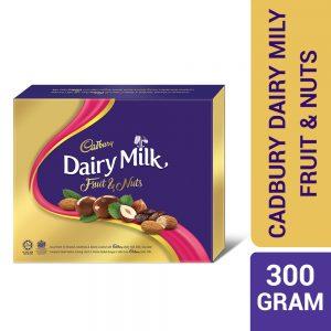 Cadbury Dairy Milk Chocolate Fruit & Nuts Assortment Of Almonds Hazelnuts & Raisins Coated Panned 300G – 4053762