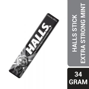 Halls Stick Extra Strong Mint Flavoured Candy 9 Pieces (34G) – 610104
