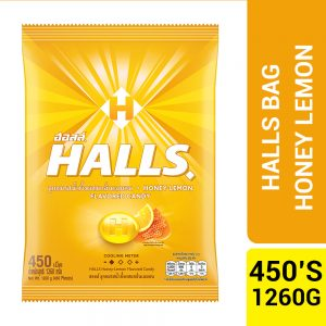 Halls Honey Lemon Flavored Candy Bag 450'S (1.26KG) – 4057617