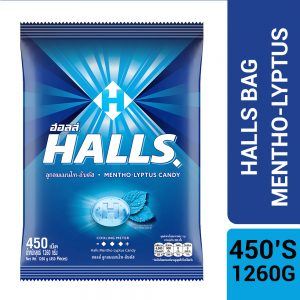 Halls Mentho-Lyptus Flavored Candy Bag 450'S (1.26KG) – 4057615