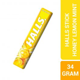 Halls Stick Honey Lemon Mint Flavoured Candy 9 Pieces (34G) – 610105