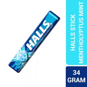 Halls Stick Mentholyptus Mint Flavoured Candy 9 Pieces (34G) – 610103