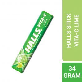 Halls Stick Vita-C Lime Flavoured Candy Vitamin C 9 Pieces (34G) – 610122