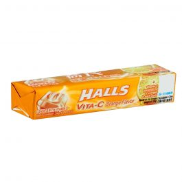 Halls Stick Vita-C Orange Flavoured Candy With Vitamin C 9 Pieces (34G) – 610121