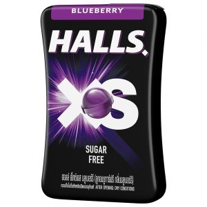 Halls XS Blueberry Flavored Sugar Free Candy 15G – 4056400