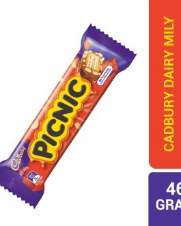 Cadbury Picnic Unique Combination of Peanuts Wafer Caramel & Rice Crisps Covered 46G – 4036795