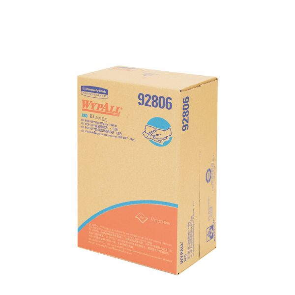 WypAll® X60 Cleaning Cloths 92806 - White, (1 POP-UP box x 150 sheets) & 1 ply cloths