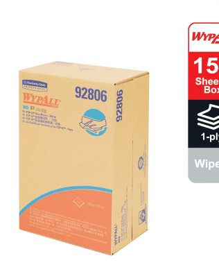 WypAll® X60 Cleaning Cloths 92806 – White, (1 POP-UP box x 150 sheets) & 1 ply cloths