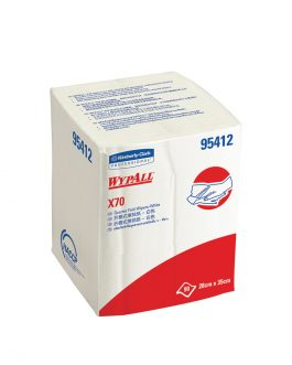 WypAll® X70 Wipers, ¼ fold, 95412 - White, (1 Pack x 90 sheets) & 1 ply