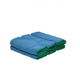 WypAll® Microfibre Cloths 83620 – Blue, (1 carry pack x 6 cloths)