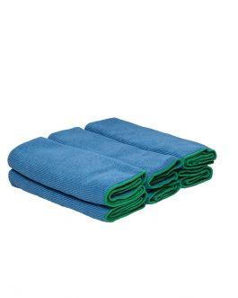 WypAll® Microfibre Cloths 83620 - Blue, (1 carry pack x 6 cloths)