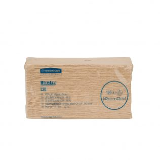 WypAll® L30 Wipers, Pop-Up™ Box, 28081 - Brown, (1 pack x 100 sheets) & 3 ply