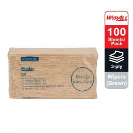 WypAll® L30 Wipers, Pop-Up™ Box, 28081 – Brown, (1 pack x 100 sheets) & 3 ply