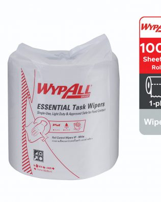 Wypall® Essential Task Roll Control 29999 – white, 1 ply, 1 roll x 300m, (1 roll, 1000 sheets)