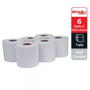 Wypall® Roll Control 28888 – white, 1 ply, 6 rolls x 300m, (6rolls, 6000 sheets)