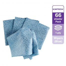 Kimtech Prep™ Kimtex* Wipers 1/4 fold, 33560 – Blue, (1 Pack x 66 sheets) & 1 ply