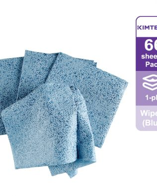 Kimtech Prep™ Kimtex* Wipers 1/4 fold, 33560 – Blue, (1 Pack x 66 sheets) & 1 ply