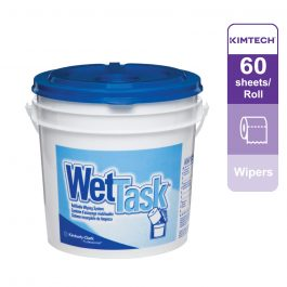 Kimtech™ WetTask* Wipers 06001 – White, (1 roll x 60 sheets)