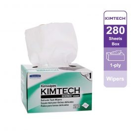 Kimtech Science™ Wipers 34155 – White, (1 box x 280 sheets) & 1 ply