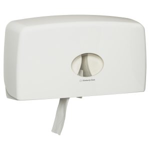 70210 Kimberly-Clark Professional® Aquarius® Jumbo Roll Twin Dispenser, White, One Dispenser